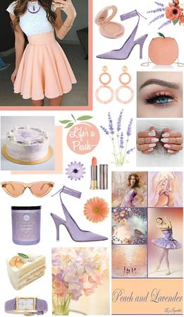 Peach & lavender 🧡💜