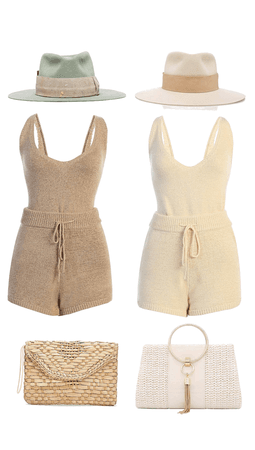 JLUXLABEL SUMMER CROCHET KNIT TANK SHORTS SET