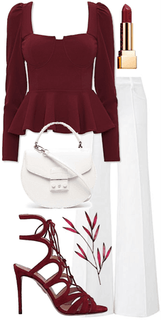 maroon and white