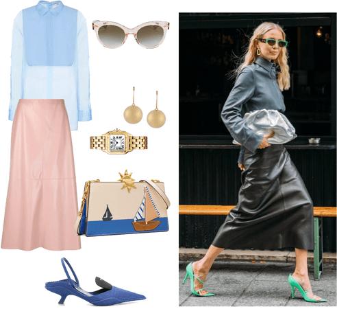Skin skirt for business look