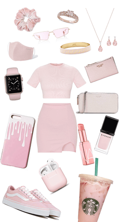 Soft pink monochrome outfit