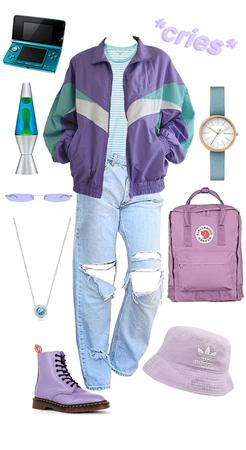 aqua + lavender