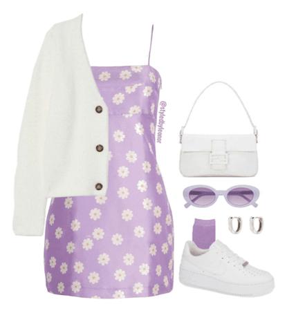 Spring Vintage Purple Look
