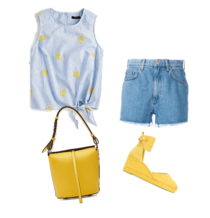 Light blue and yellow