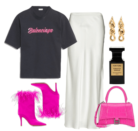 candy pink shopping with friends look