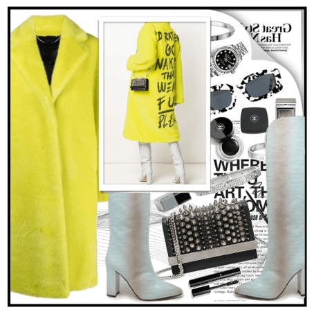 Yellow Philipp Plein coat