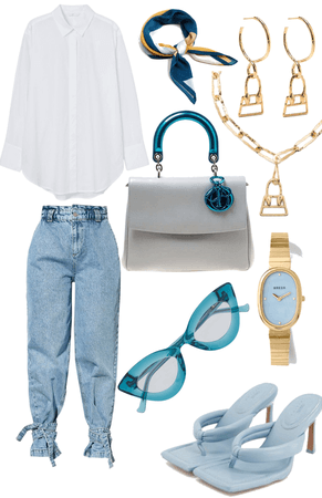 casual white blue