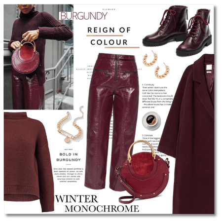 Winter Monochrome: Bold in Burgundy