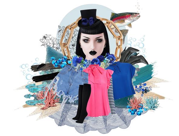 Painting Fashion under Warter