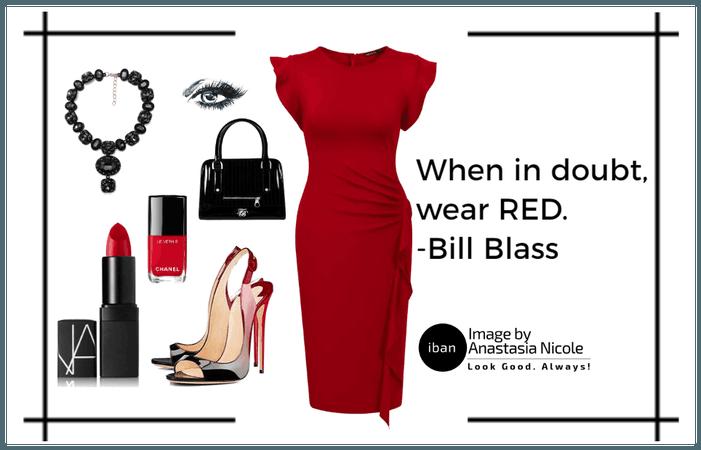 When in doubt,wear red