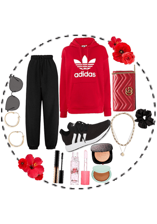 Comfy red look