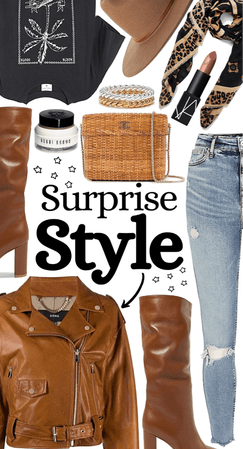 Surprise style: the leather jacket