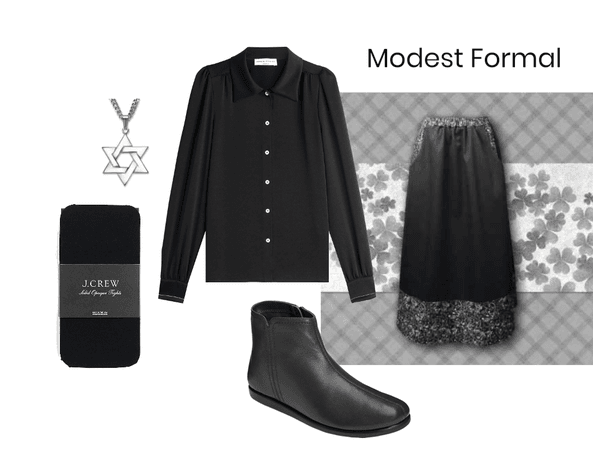 Elegant Black Modest Formal #2