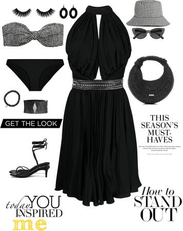 teeny weeny black bikini