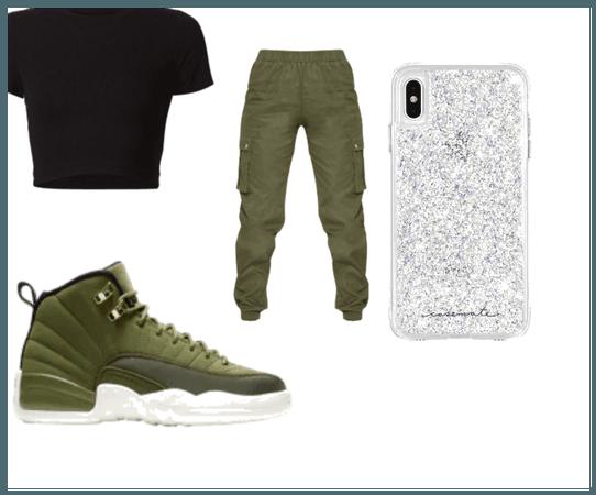 Green Jordan outtfit