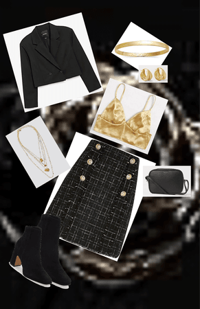 Formal elegant black and gold