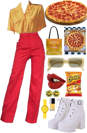 red and yellow junk food