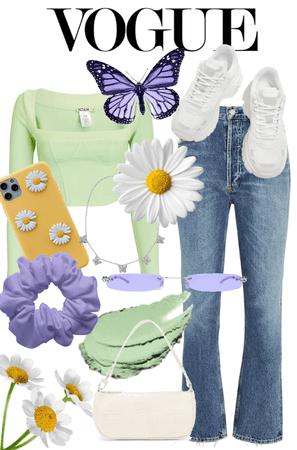 Spring pastel look🌿☁️💜