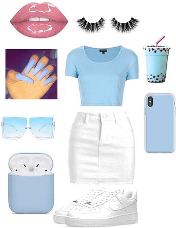 light blue baddie 💎💦🥶