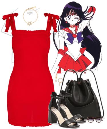 Rei Hino- Sailor Mars inspired Look