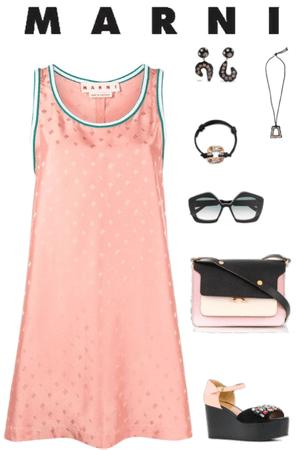 Casual Pink Marni Mini Dress
