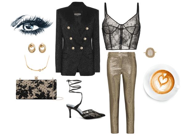 gold & black.