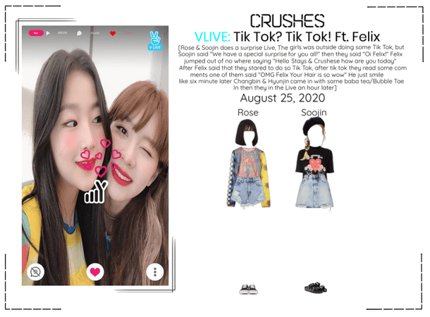 Crushes (호감) Rose & Soojin Surprise Vlive