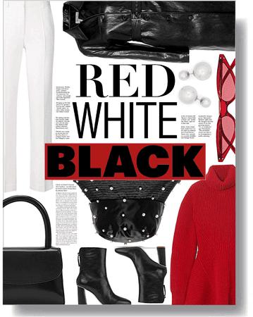 red, black, & white ❤️🖤🤍