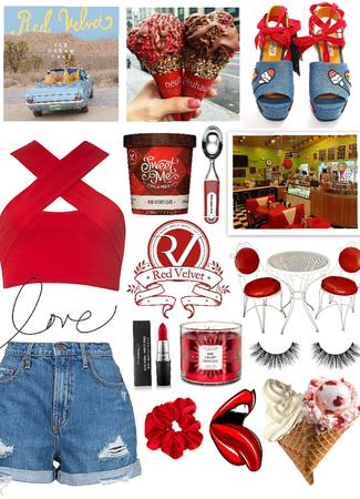Red velvet ice cream😋♥️