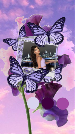 loren in lilac