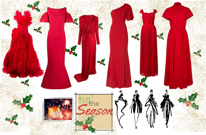 Red Holiday Gowns