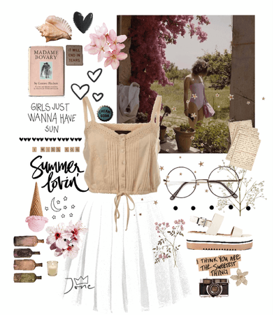 vintage summer inspired outfit