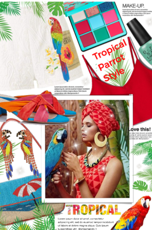 Tropical parrot style 🌿🌺