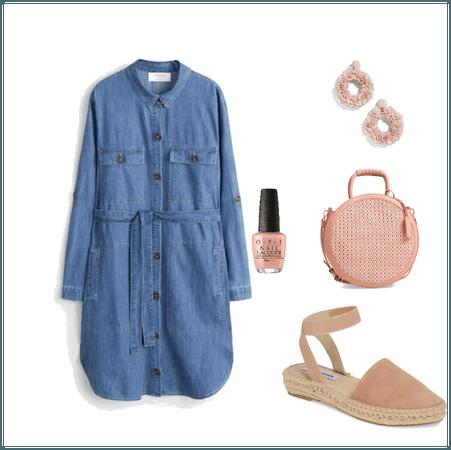 Denim Dress and Pink Items