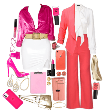 Hot Pink and Coral