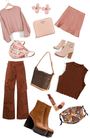 My colour collection p3- pink and brown