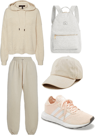 beige chill outfit