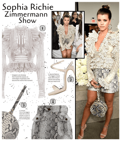 Sophia Richie at the Zimmermann Show