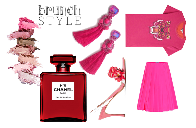 Hot pink brunch style