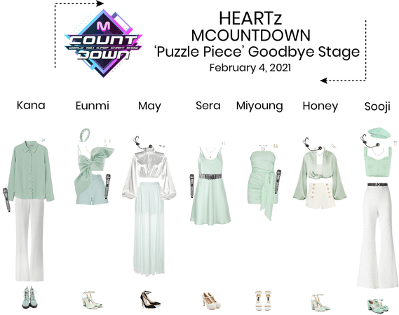 HEARTz//'Puzzle Piece' MCOUNTDOWN Goodbye Stage