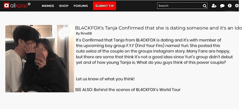 BL4CKFOX {검은 여우} Allkpop Article