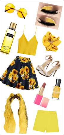 Yellow and sunflower summer