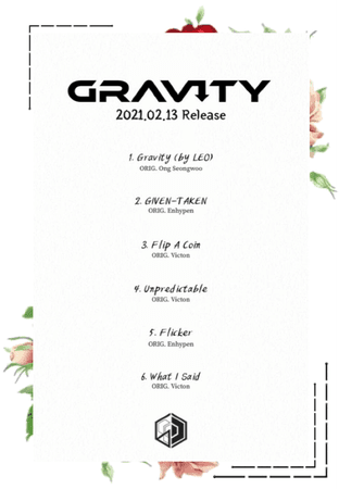 6IX-D [식스디] Gravity Tracklist 210212