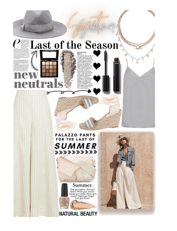 neutral palazzo's for the end of summer