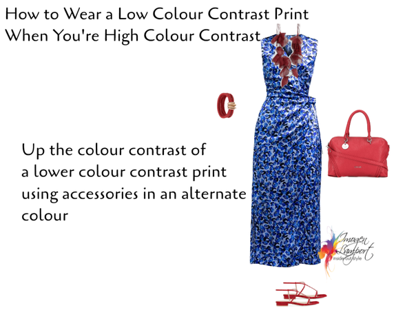 how to wear a low colour contrast print