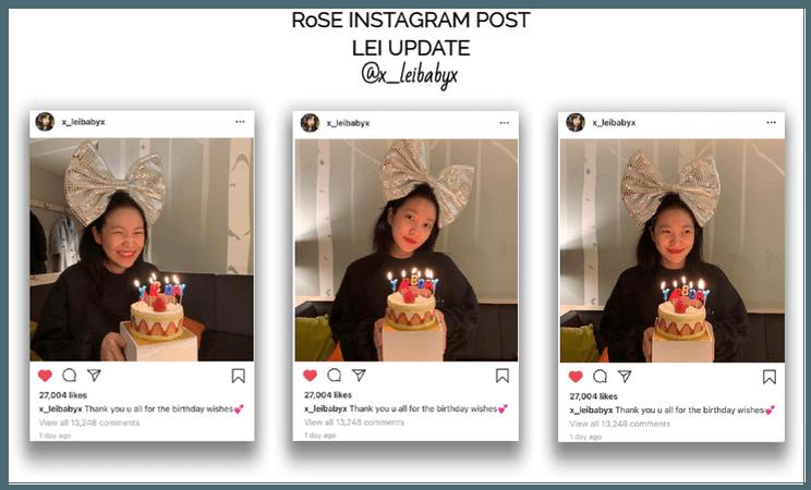 {RoSE}[Lei] Official Instagram Post