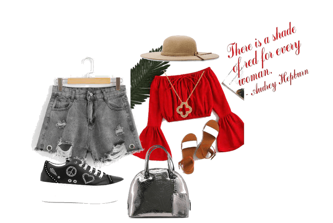 Red and black combinations in summer seasons