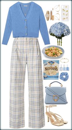 Blue cardigan mood