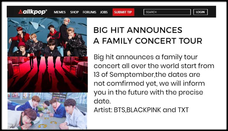 Big hit family world tour