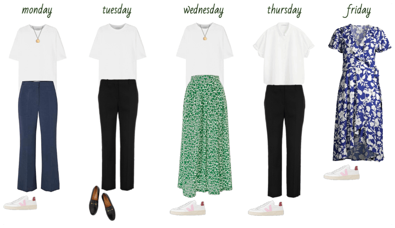 A week in office outfits